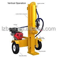 New Designed Used in either Vertical or Horizontal with CE 32T Gasolene Engine Hydraulic Firewood Splitter