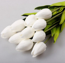 High quality real touch PU artificial tulip flowers