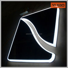 Customized stainless steel led backlit lit sign letter for business indentity