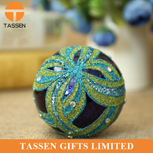 manufacture promotion green frosted christmas ball top quality glass ornament ball custom glass christmas ball