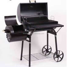 Large barrel bbq grill smoker with GS approval