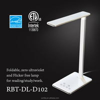 ABS+Aluminum usb power dimmable led desk lamp with touch sensitive 1 hour/2 hour timer power off flexible led table light