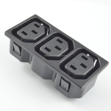 3 gang outlet power strip, female connector 3-way plug /iec c13 socket