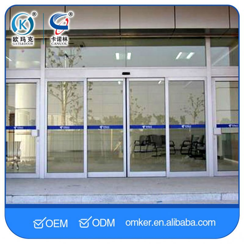 Microcomputer Control System Unique Hotel Automatic Glass Sliding Doors