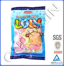 Plastic sweet pouch with custom logo