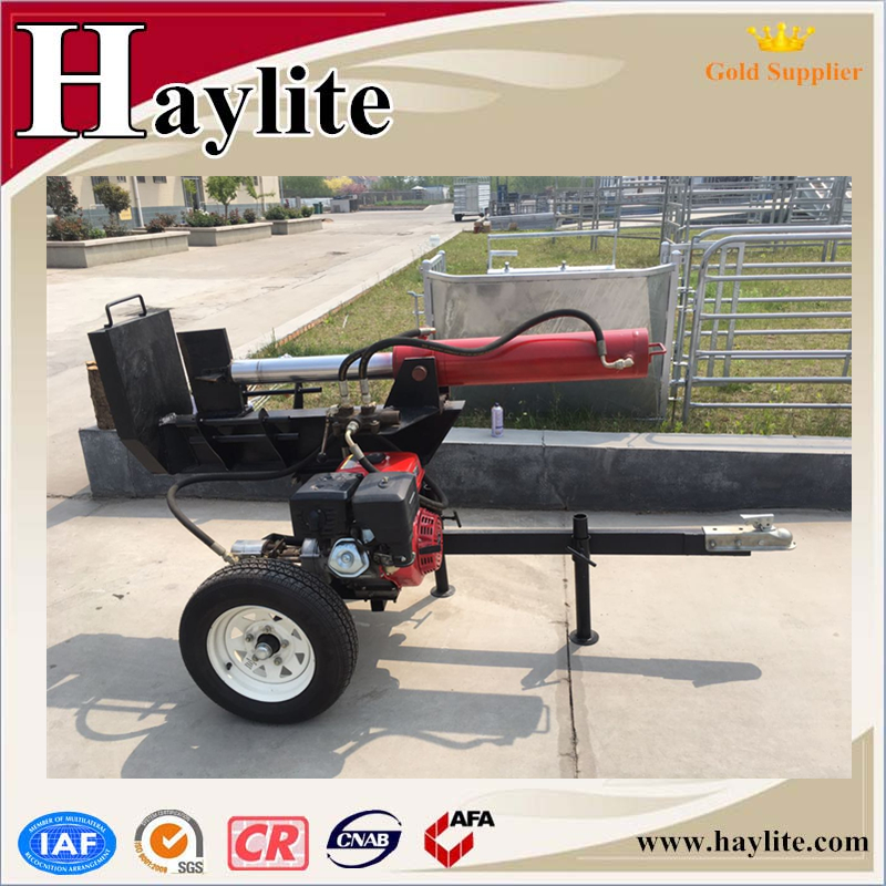 home used wood vertical screw hydraulic log splitter