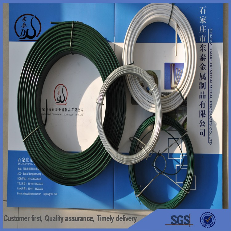 China manufacturer direct sale customized speical color pvc coated iron wire