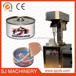 with CE food tin can seamer machine/tin can sealer machine price/semi-automatic can sealer