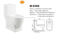 M9306 Hot-sale exclusive design siphonic one piece WC Toilet
