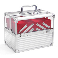 Double Open Transparent Cosmetic Box Acrylic Beautry Case