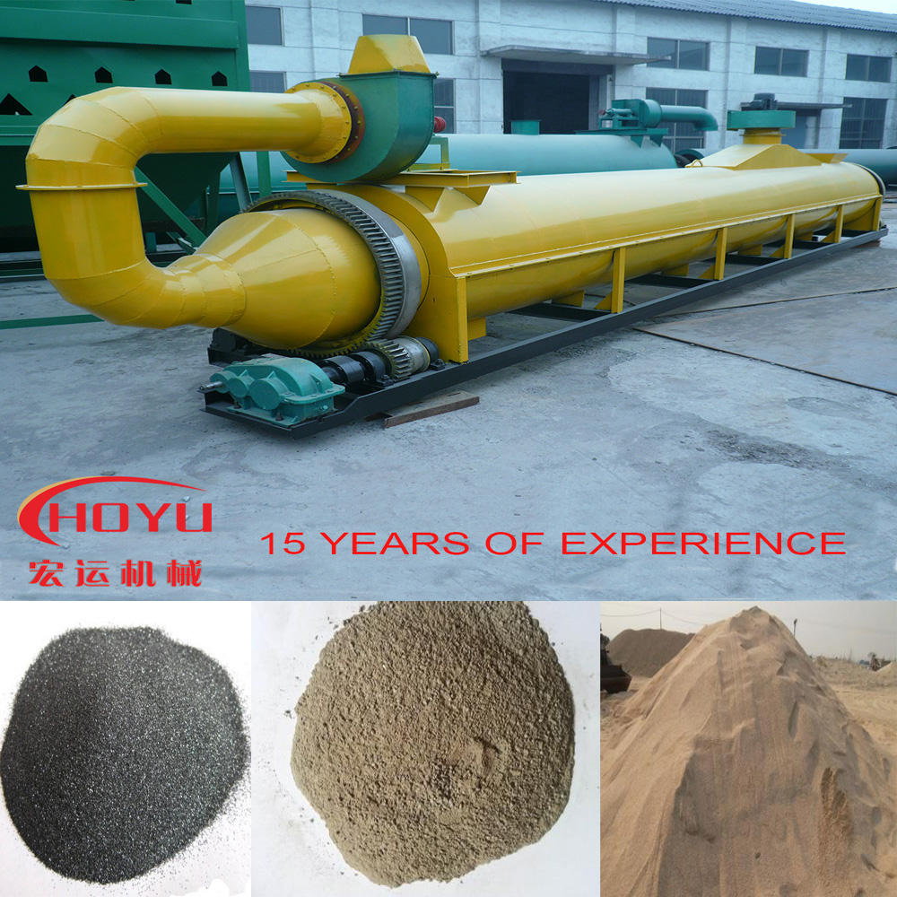 Wood powder drum drying equipment, woodchips rotary tubular dryer for sale