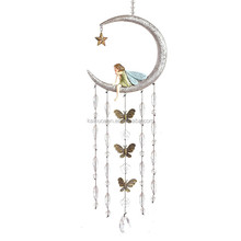 Hot Sale Personalized Handmade Color Painted Decorative Moon Wind Chimes