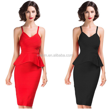 2017 Fashion summer midi dresses lady formal bandage sexy bodycon dress for women wholesale