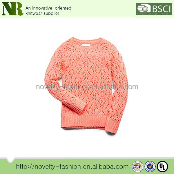100% cotton latest-sweater-designs-for-girls,girl's sweater with Pierced