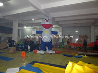 lovely doraemon cartoon inflatable model for advertising