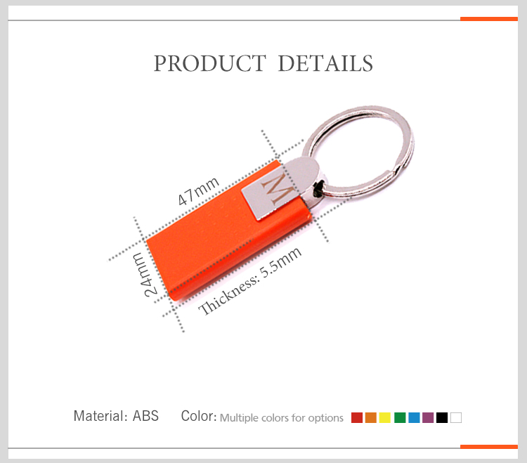 Luxury with Metal Material RFID TK4100/EM4100 Key Fob with Key Ring