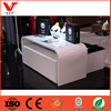 Customized Professional Wooden Clothing Store Display Table with base block drawer on wheel in retail fashion store