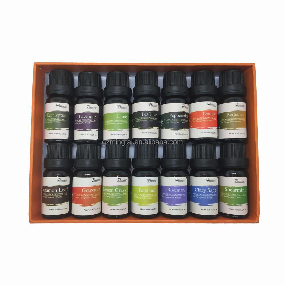 Customized ingredients Various pure Essential Oil Gift Set 6 pack and 14 pack 10ml For christmas business gift