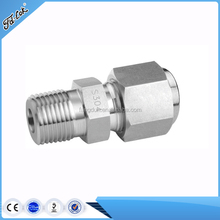 SS forged male connection pipe to tube adapter / Stainless steel tube turn pipe adapter / NPT connection tube fitting