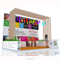 Detian Offer advertising display trade show booth stall