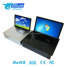 Table Top touch screen Flip Up Monitor LCD Computer Lifting System