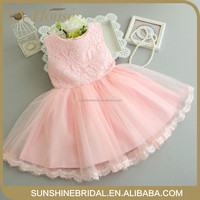 newest design fashion high quality pink girls communion dress girls party dress flower girl dresses