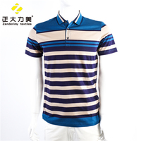 Man t-shirt wholesale clothing stripe pattern casual shirt