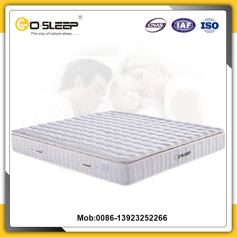 Low price chinese fabric polyester cotton pocket spring foam mattress
