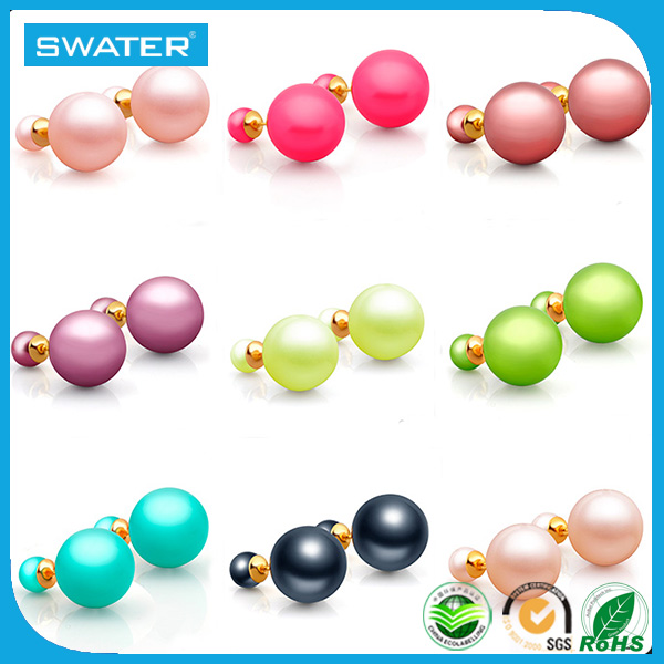 Indian Jewellery Designs Colorful Round Pearl Earrings For Women