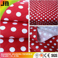 Popular pure Cotton Fabric Cotton Hard Fabric Dot Print Fabric made in China