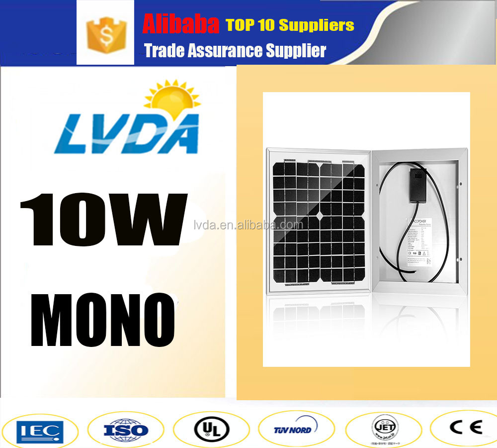 South korea 10w mono solar panel price off grid solar panel system