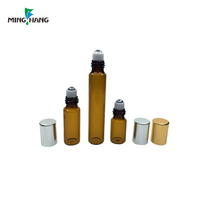3ml 5ml amber roll on vial 10ml glass tube bottle with aluminum lid