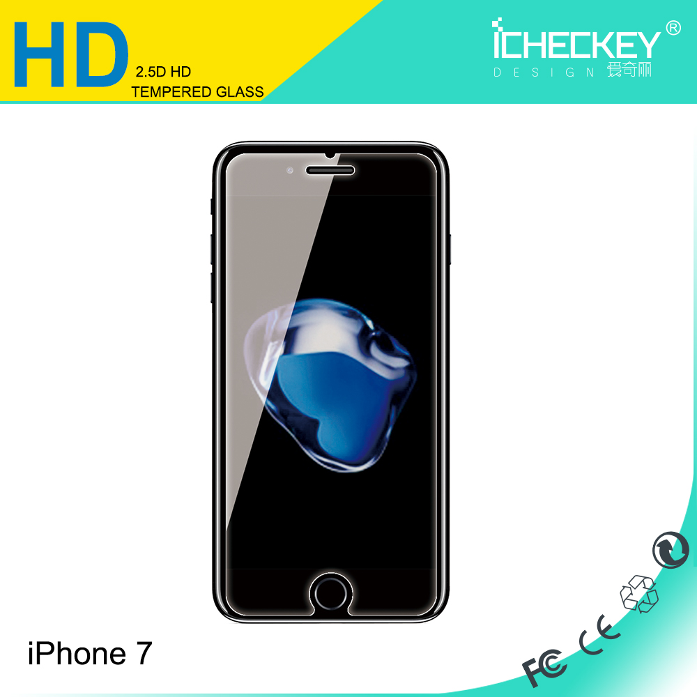 0.33mm HD tempered glass screen protector,mobile phone use tempered glass for iPhone 7