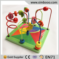 Track Rail Maze Teachig Beads Toy for Kids Educational Toy Wooden Stringing Beads Toy for Kids