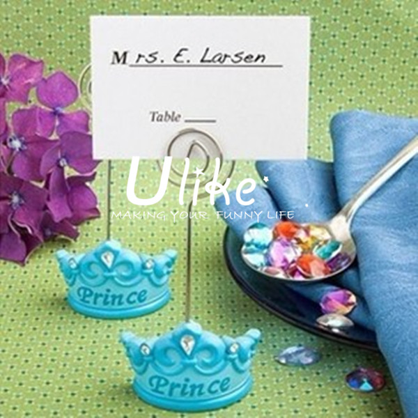 respected prince shaped seating cards for boys birthday party decorations