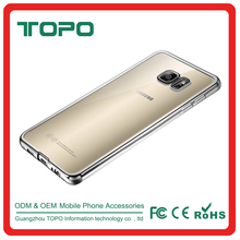 2016 Transparent electroplating TPU Mobile cell Phone cover Case For Samsung Galaxy note3 note4 note5 J110 J5 J7 C7 A310 A510 A7