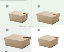 Disposable paper take away food boxes