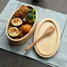 Lovely pretty custom unique round shape wooden /bamboo lunch box