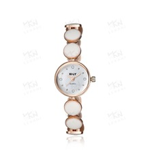 Popular gold plated bracelet band watches, watches women brand