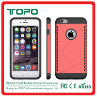 Wholesale flexible TPU PC 2in1 hybrid Shockproof Armor hard plastic Protective cell Phone back cover Case for iphone 6 6s plus