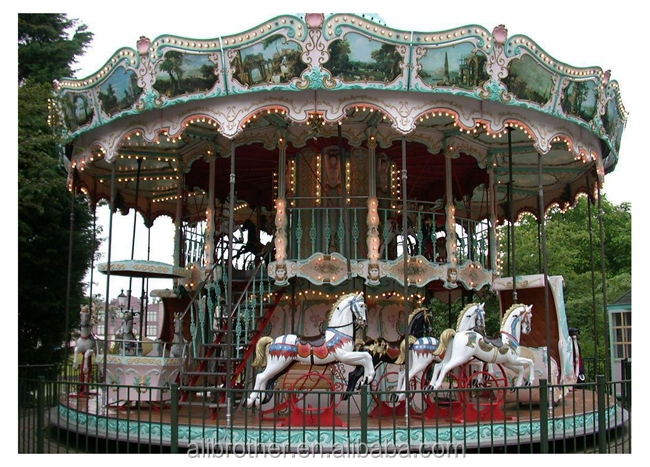 [Ali Brothers]Shopping mall Double Deck Merry go Around Carousel for Sale