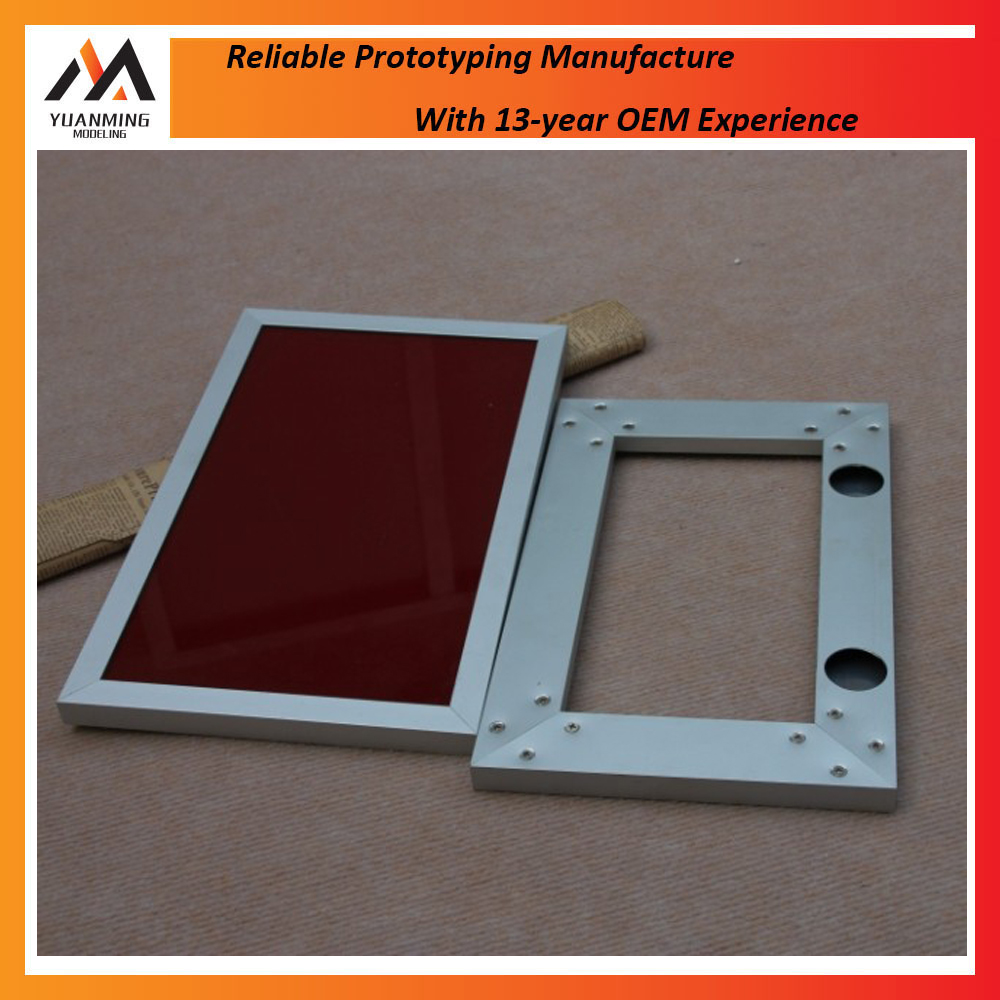 Custom high polishing cnc machining cheap prices anodized aluminum frame