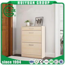 Factory suppliers sales 3 layer and two drawers MDF Shoe Racks for sale