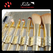 7 Piece Travel Easy Carry Makeup Brush Sets + Pouch Makeup Kit Pouch