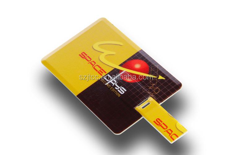 Personal Flat Name Card Shape Flash Drive 1GB