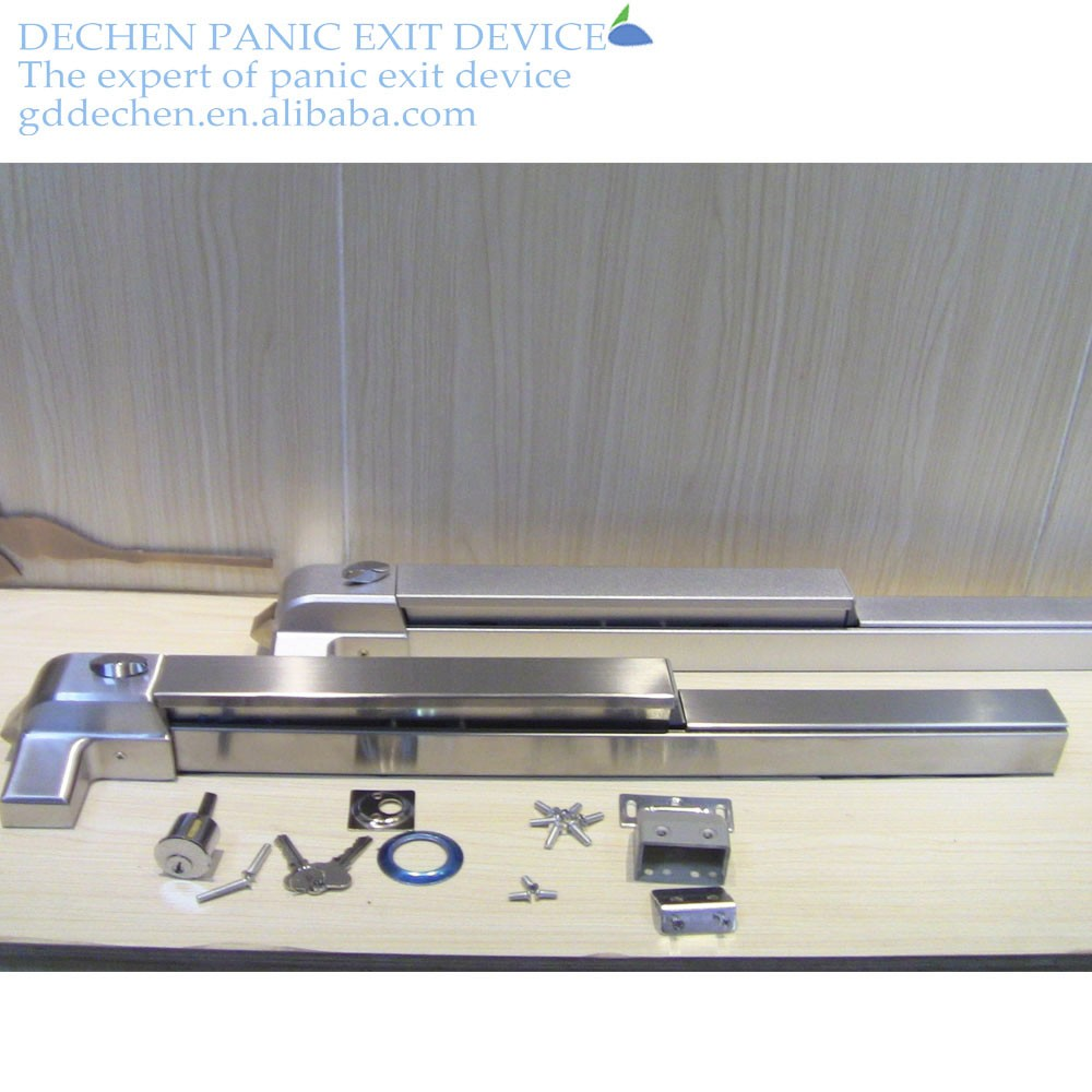 304stainless stell door lock UL fire rated panic exit 304stainless stell push-bar panic exit device lock for emergency door