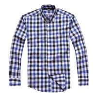 cheque Cotton Formal Full Sleeve Mens Dress Shirt