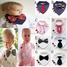 J125 European and American popular baby cute bow tie 3D bibs