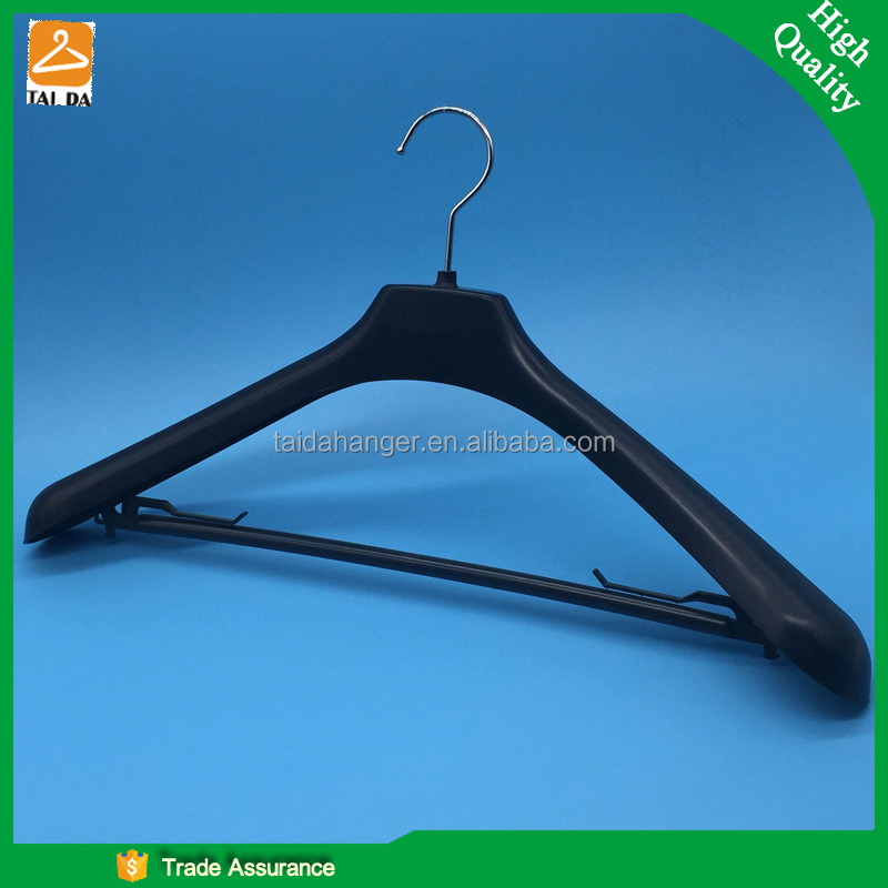 46cm heavy duty plastic suits hanger with custom logo for fashion shops SY-101