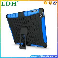 1pc/lot Free Shipping Heavy Duty Rugged Tough Armor Stand Cover For ipad 4 Case With Kicktand Tablet Cover For ipad 2 3 4
